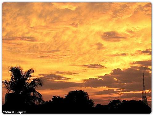yesterday's sunset