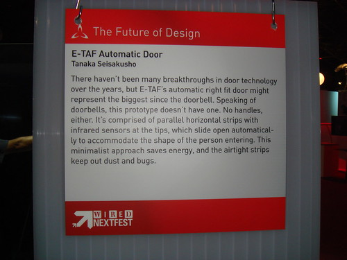 e-taf automatic door placard