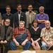 (Clockwise from top left) Steve Haggard, Rob Lindley, Michael Perez, director BJ Jones, playwright Bruce Graham, Amanda Drinkall, George Wendt and Tim Kazurinsky