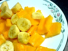 Banana and Papaya Plate