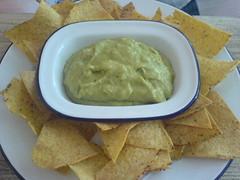 Guacamole and Nacho chips at Monster Mex, Edinburgh