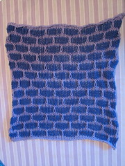 stockinette version dishcloth