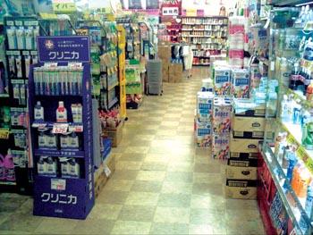 прилавки аптеки