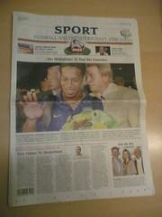 WM-Ausgabe der Westdeutschen Allgemeinen Zeitung (WAZ)