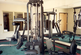 Exercise room at webb's