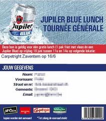 Jupiler Blue Lunch: Tournée Générale