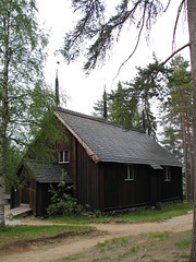 The old wooden church in Sodankyl�