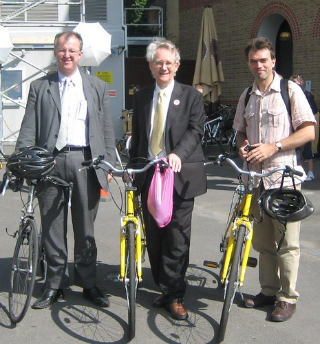 Three Lilb Dem MPs on Cycle Ride