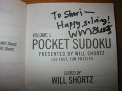 Will Shortz's autograph!