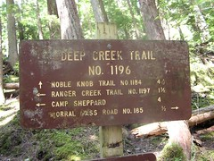 Start of Deep Creek Trail