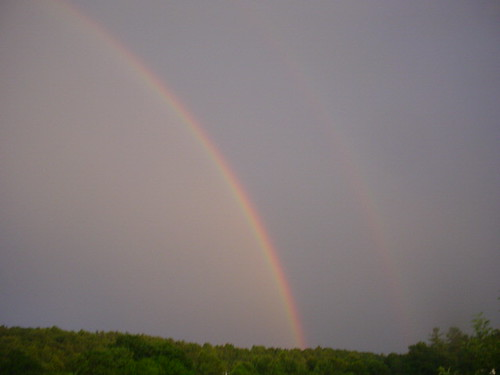 Double rainbows in the sky!