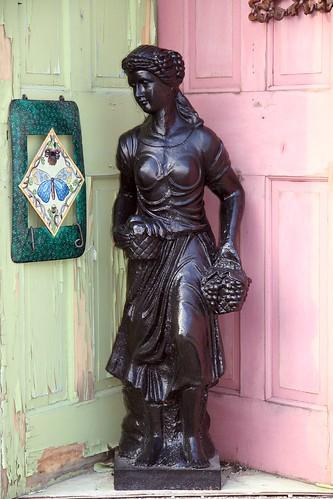statue and doors