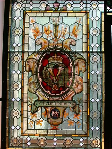 州議事堂内のステンドグラス@Victoria, BC