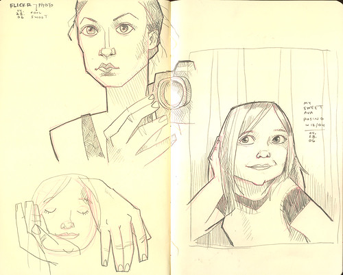 Sketches from Flickr photos