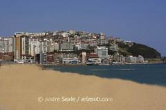 Praia de Haeundae, sem pessoas