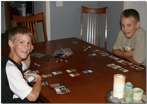 Jacob and Matthew play Magic