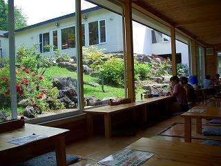 498 豊平峡温泉 やわらぎの里 テラス