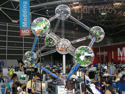 Algunos ordenadores de la Campus Party 2006