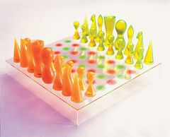 Chess set designed by Karim Rashid