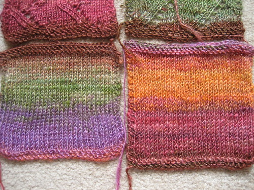 silk singles - stitch comparison