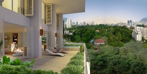 Duplexes in Scotts HighPark's 'penthouse series' enjoy private verandas thatstretch across the entire frontage of the units.