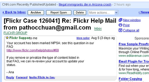 Flickr Email