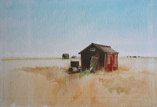Shed Dungeness (Watercolour)