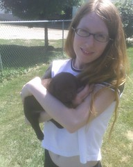 Lenore with our new puppy!