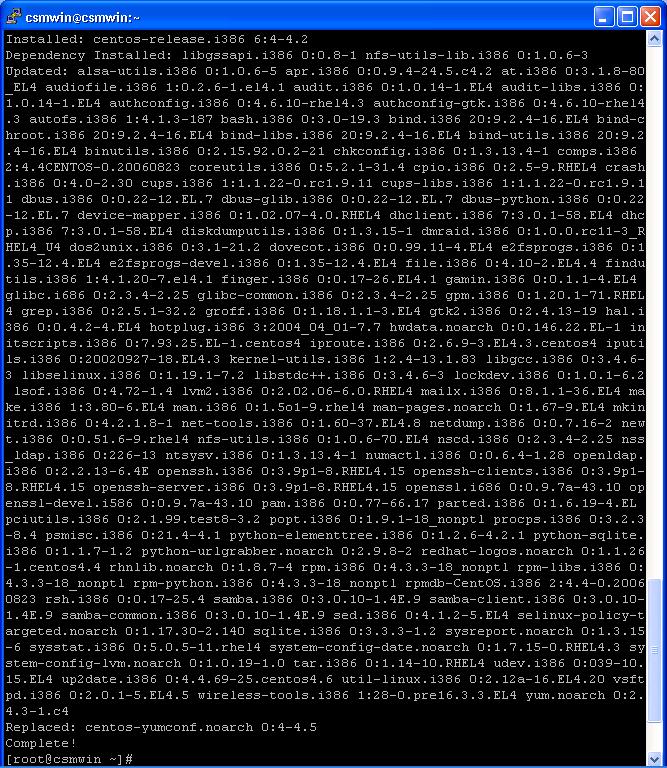 CentOS 4.3 update