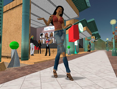 Second Life interactive scene