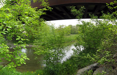 Bowmanville Creek under the railroad bridge
