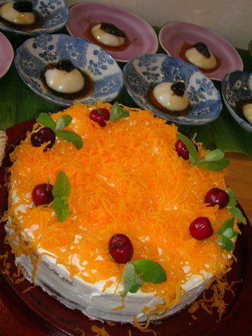 Bolo de nozes com fios de ovos(くるみケーキと糸状の卵)
