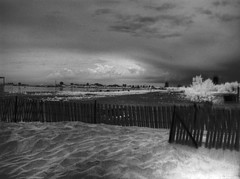 HDR IR Rainy beach due