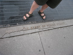 This is the start of Yonge Street