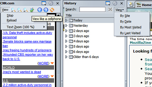 Web-panel and History sidebars