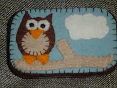 Owl altered altoid tin