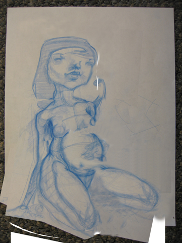 Reclining pregnant female - Need anatomy crits... or any crits at all, really :)
