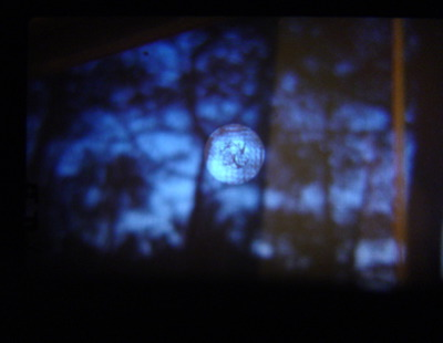 night sky through the viewfinder