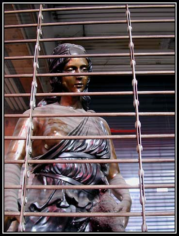 Caged Statue