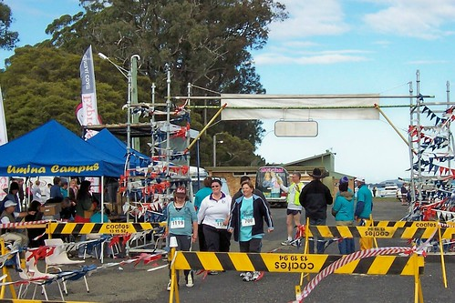 Last finishers in the Woy Woy to Gosford Fun Run