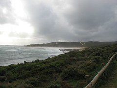 View out over the coastline near Margaret River