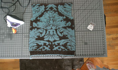back of Brocade - done! and blocking