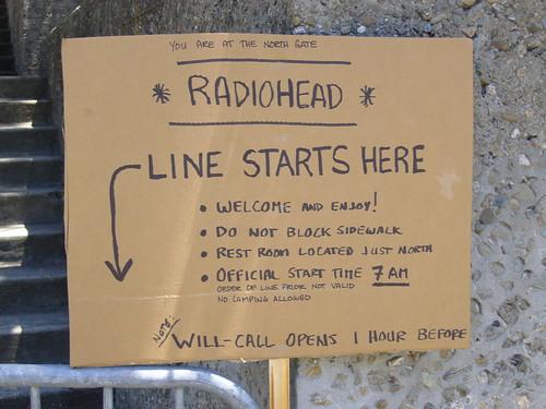 The Greek Theatre, Radiohead