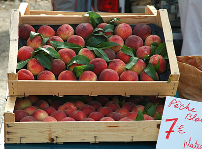 Peaches at a Provence Market