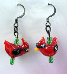 Super Cute Cardinal Earrings