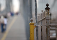 Brooklyn Bridge Boardwalk in Bokeh
