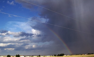 Rainbow and storm to SE
