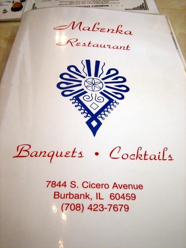 Mabenka menu