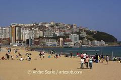 Praia de Haeundae - Busan, com pessoas