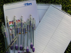 purple office supplies